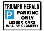 TRIUMPH HERALD Large Metal ParkingSign For Gift-Present